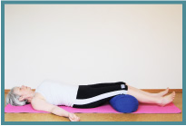 01 Savasana knees supported