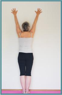 01 Tadasana to wall | Hannah Lovegrove Iyengar Yoga